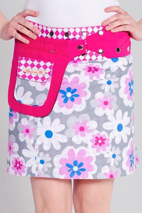 Obojstranná sukňa Monaco ručnej výroby zo 100% bavlny