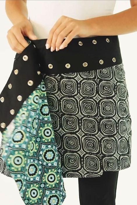 Obojstranná sukňa Toronto ručnej výroby zo 100% bavlny