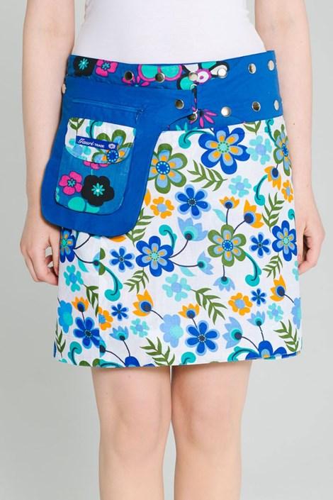 Obojstranná sukňa Riga ručnej výroby zo 100% bavlny