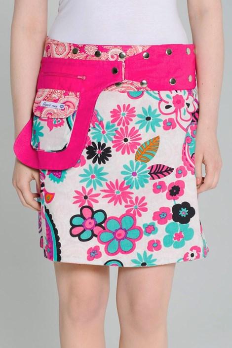 Obojstranná sukňa Miami ručnej výroby zo 100% bavlny