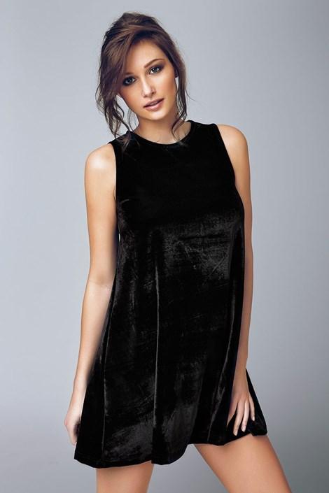 Dámske zamatové šaty Biagio 4503
