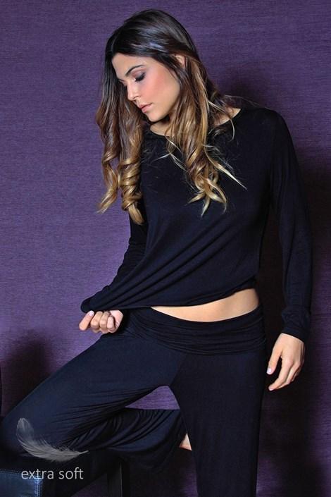 Dámske pohodlné nohavice Fashion Black z viskózy