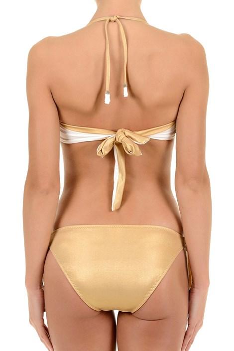 Horný diel dámskych luxusných plaviek Gold s kosticami