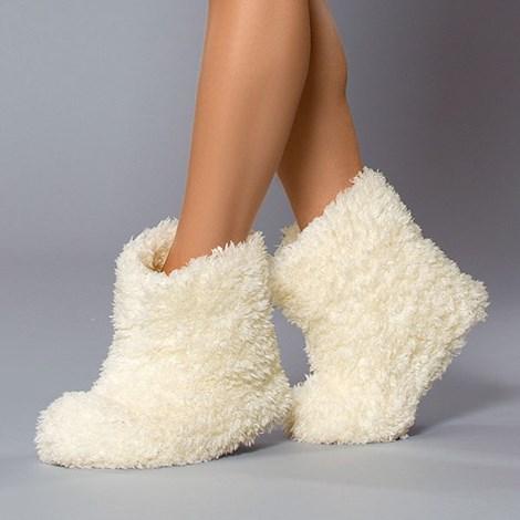 Hrejivé papuče Abi Ecru