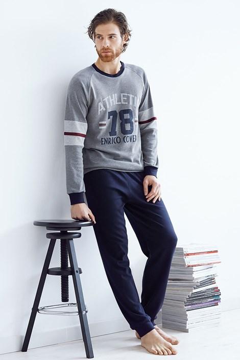 Pánsky bavlnený komplet Tommaso šedý