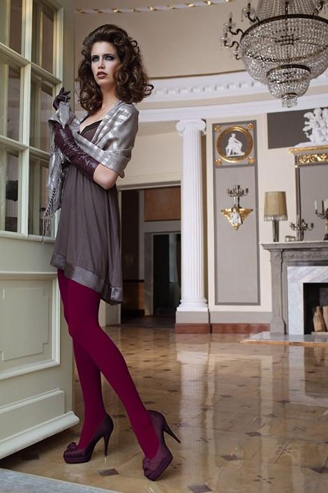 Elegantné pančuchové nohavice Glamour Soft Bordó