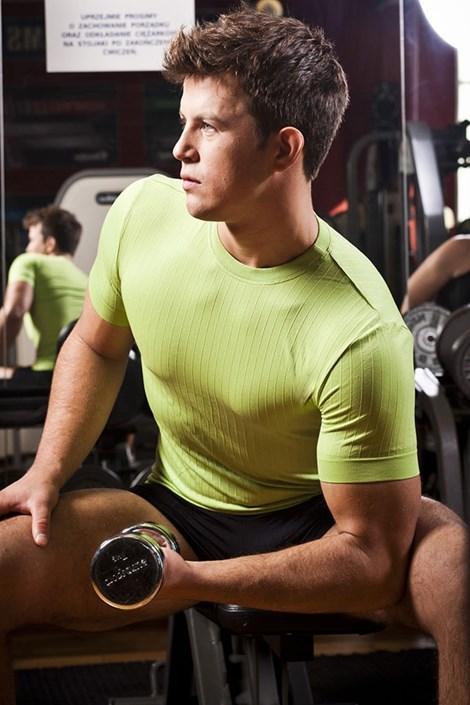 Bezšvové pánske tričko - okrúhly výstrih