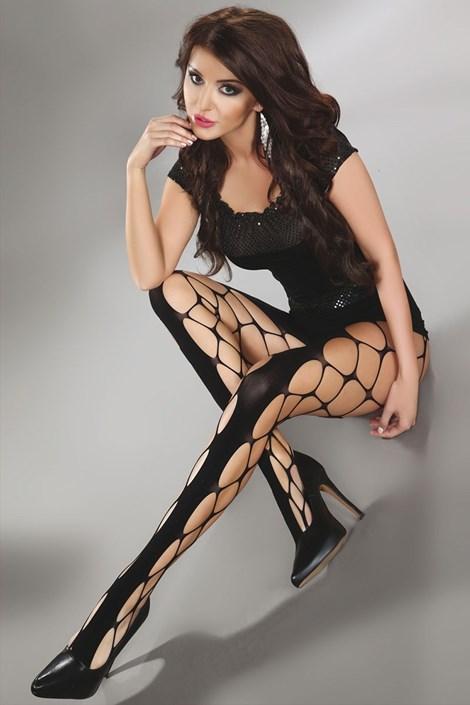 Sieťované pančuchové nohavice Jeanne