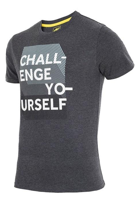Pánske značkové tričko 4F TSM016 Grey