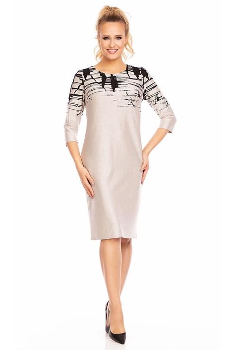 Dámske šaty Livia Beige so vzorom