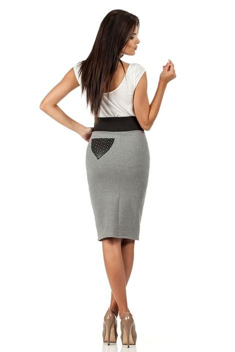 Dámska sukňa s vyšším pásom Moe062
