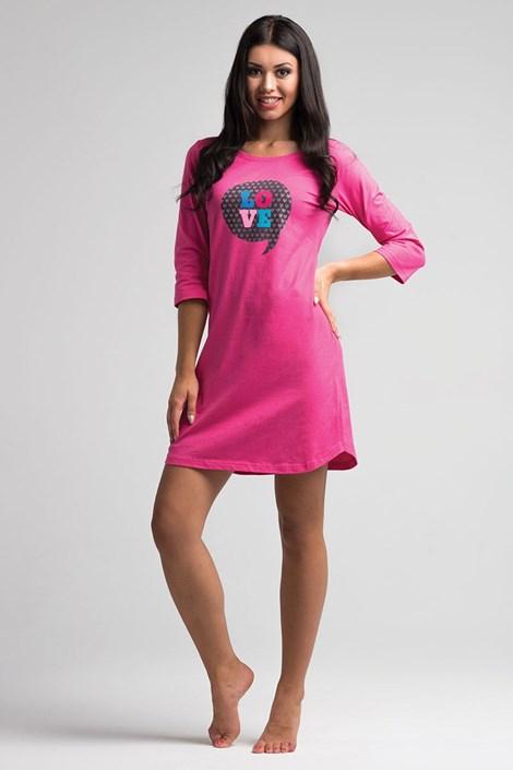 Dámska nočná košeľa Love Pink