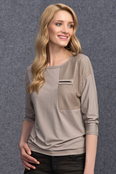 Dámske elegantné tričko Sati Beige