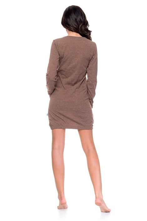 Dámska nočná košeľa Simple hnedá