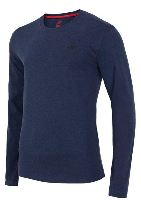 Pánske bavlnené tričko s dlhým rukávom Denim