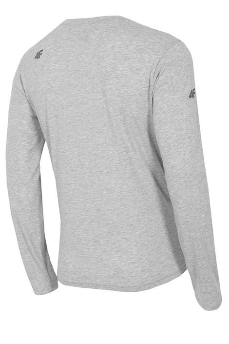 Pánske bavlnené tričko s dlhým rukávom Melange