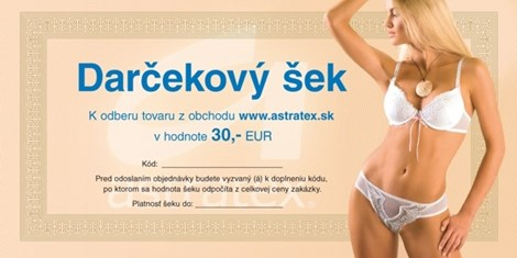 Darčekový kupón 30 EUR