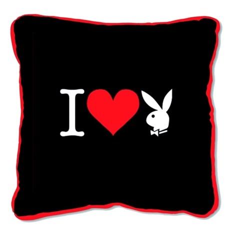 Vankúšik Square I Heart Bunny black