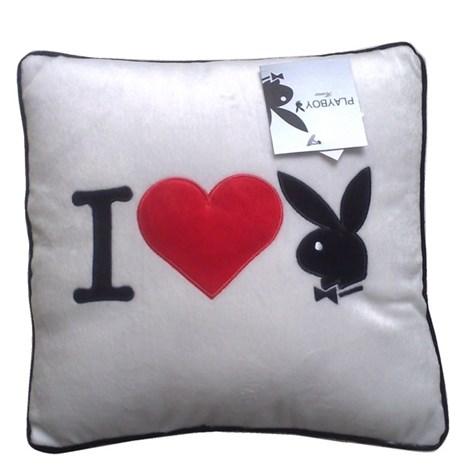 Vankúšik Square I Heart Bunny white