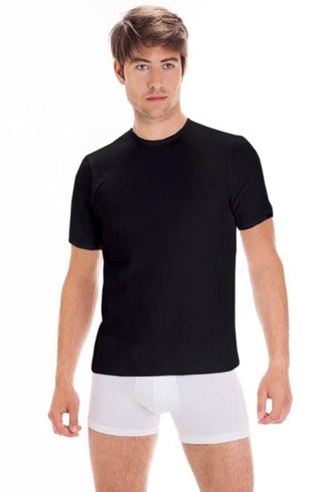 Pánske bavlnené tričko s krátkym rukávom Black