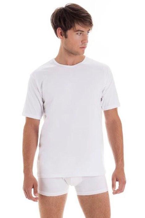 Pánske bavlnené tričko s krátkym rukávom White