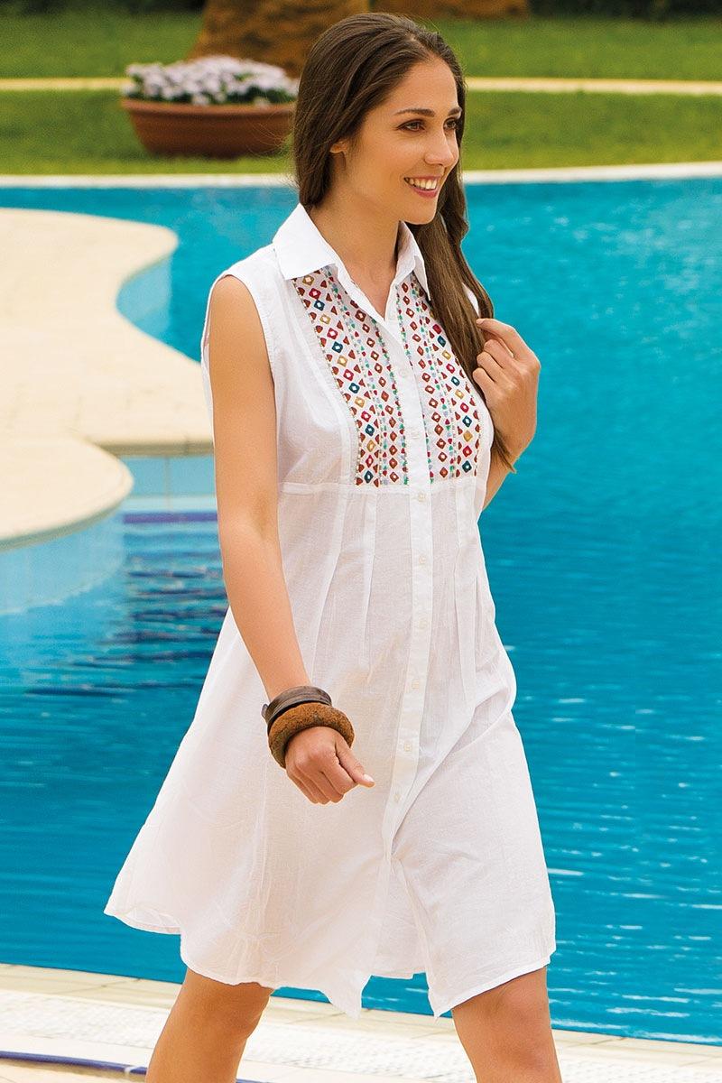 Dámske talianske letné šaty Iconique IC8020 s kamienkami eshop Iconique b1024c5e1cc