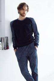 Pánsky bavlnený komplet Alessio modrý