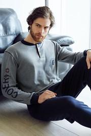 Pánsky bavlnený komplet Dario šedý