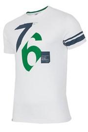 Pánske bavlnené tričko 76 White