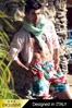Pánske luxusné talianske šortky plavky 5951D2 - dlhšia nohavička