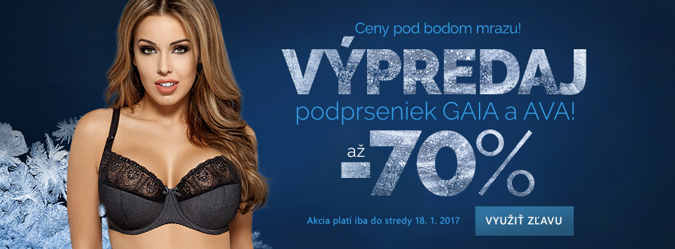 Výprodej Gaia 70 %