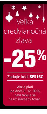 Velká předvánoční sleva až -25 %
