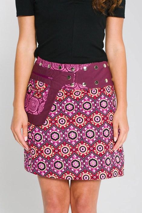 Obojstranná sukňa Stockholm ručnej výroby zo 100% bavlny