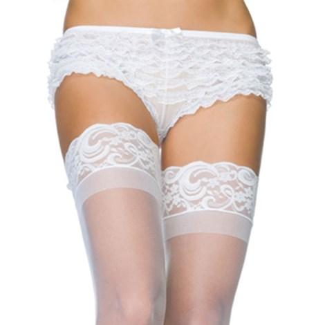 Zvodné čipkované boxerky biele