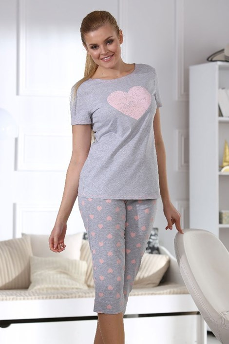 Dámske pyžamo Hearts grey