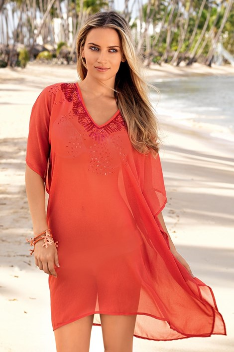 Luxusné talianske plážové šaty z kolekcie Iconique 642 KW