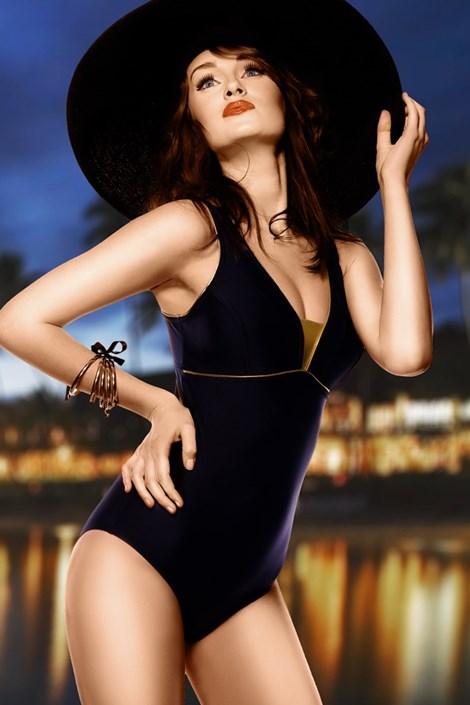 Dámske plavky Anika - čierne jednodielne