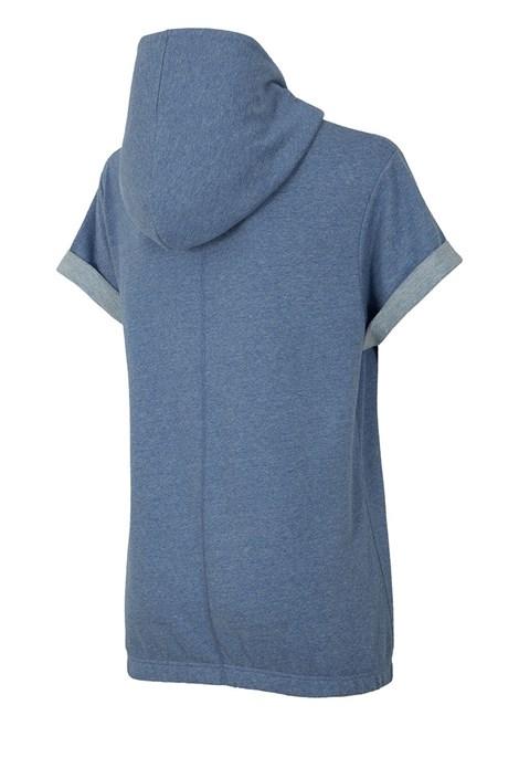 Dámska trendy mikina s krátkymi rukávmi Blue