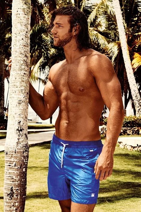 Pánske plavkové šortky Darius Blue