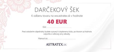 Darčekový kupón 40 EUR