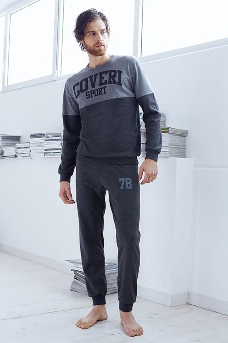 Pánsky bavlnený komplet Valerio šedý