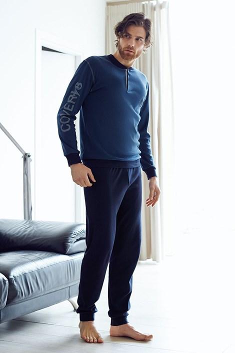 Pánsky bavlnený komplet Dario modrý