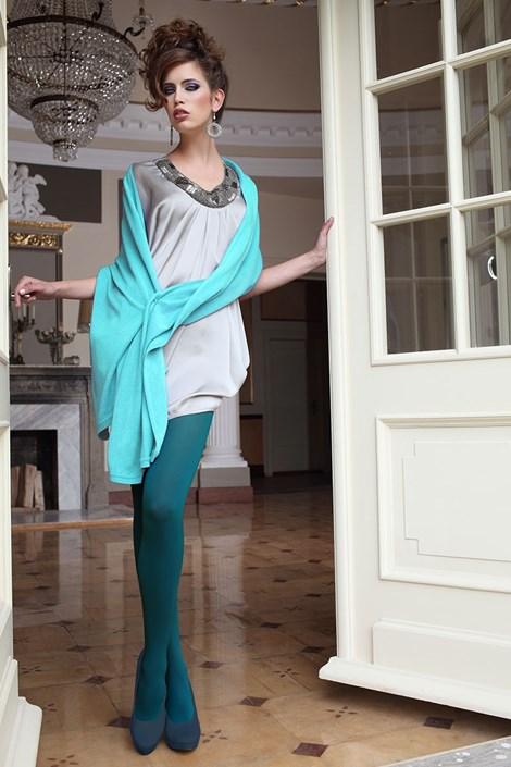 Elegantné pančuchové nohavice Glamour Soft Green