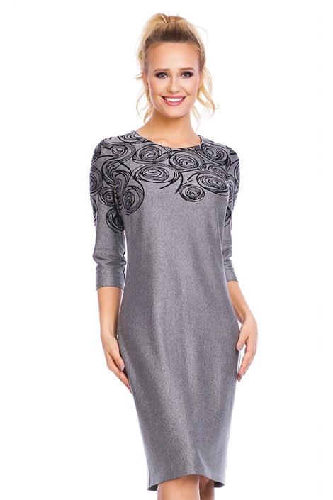 Dámske šaty Livia Grey so vzorom