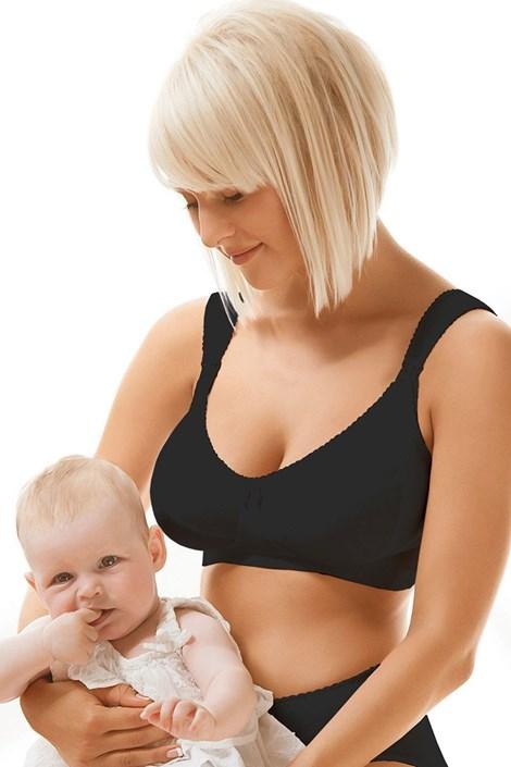 Dojčiaca podprsenka Mama 3433 nevystužená, bavlnená