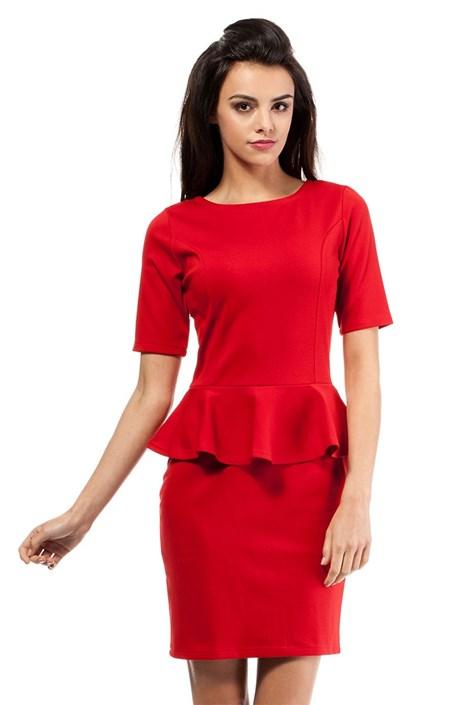 Dámske šaty s volánom Moe014