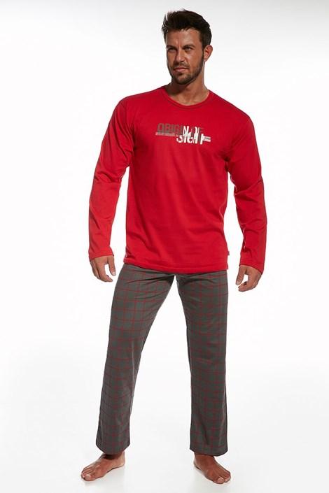 Pánske bavlnené pyžamo Origin Red
