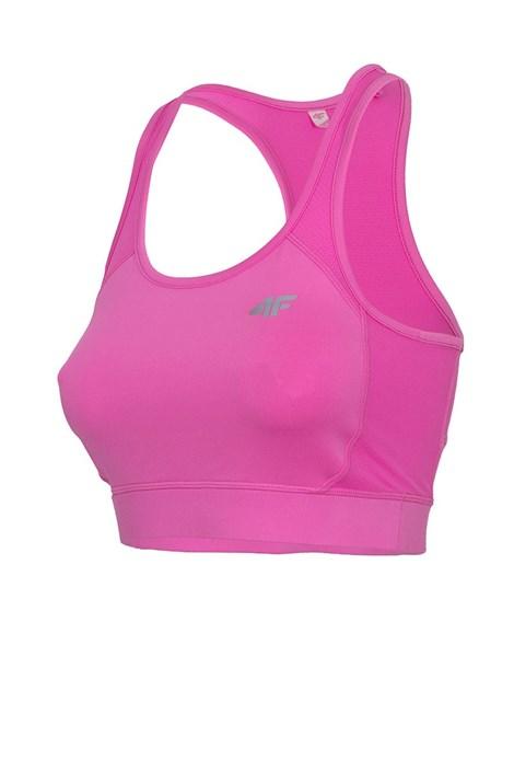 Dámsky nevystužený športový top Pink