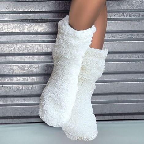Hrejivé ponožky Abi Ecru