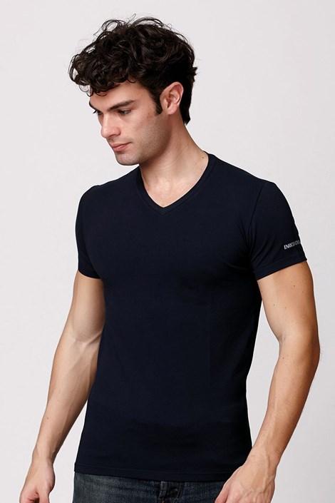 Pánske talianske tričko Enrico Coveri ET1501 Blue bavlnené